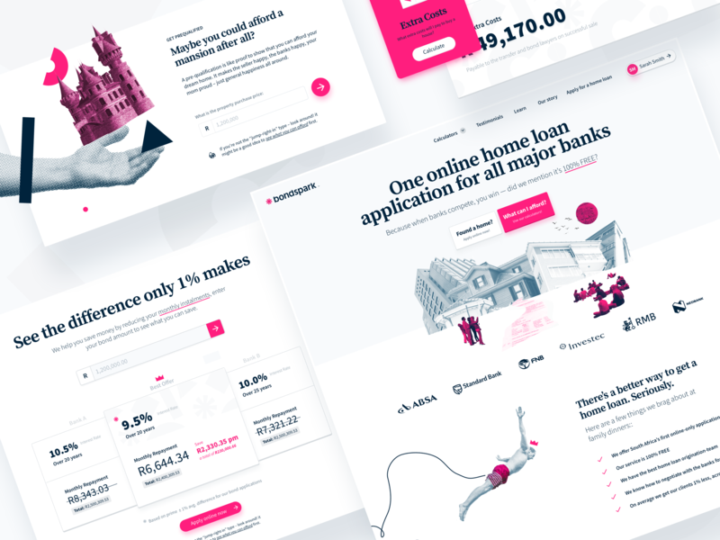 New Bondspark Features web product design web design ui website