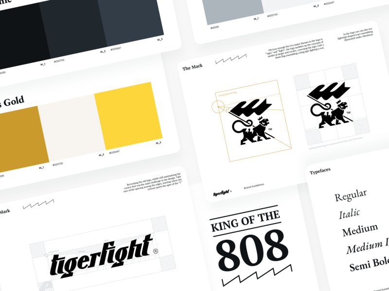 Tigerfight Rebrand calligraphy typography branding logo illustration