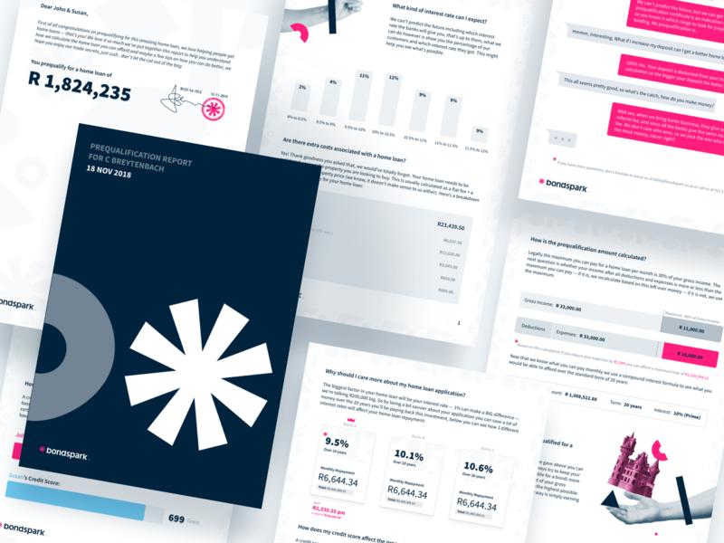 Bondspark Report print editorial page layout page design pdf report