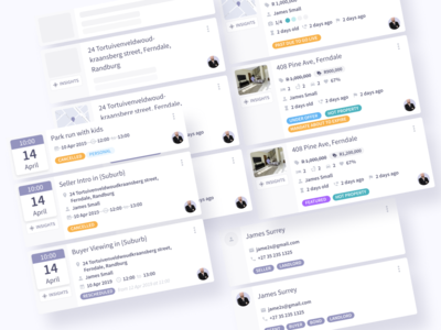 Card Components tags crm ui component cards