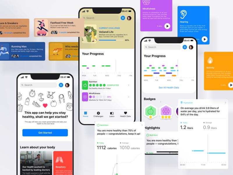 iOS Health App Concept product design ux ui health apple ios
