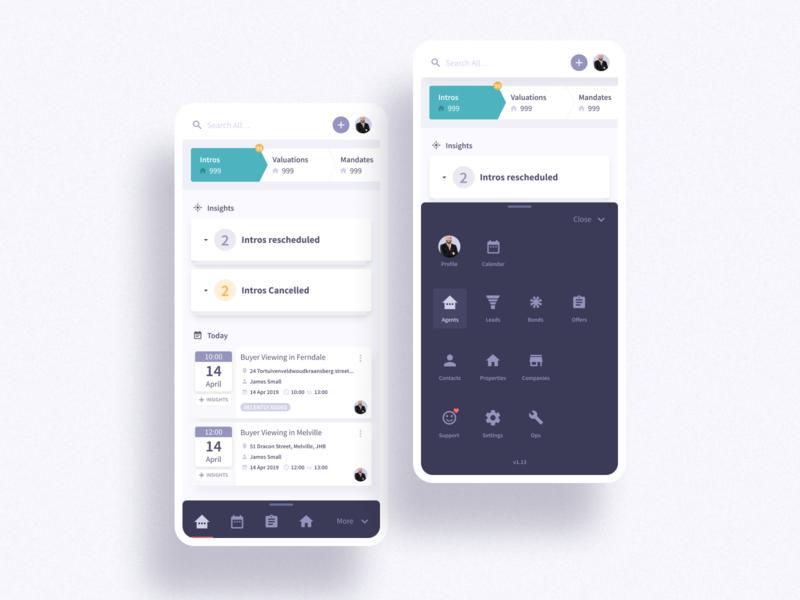 Expanding Menu Design menu bar ui navbar navigation mobile menu