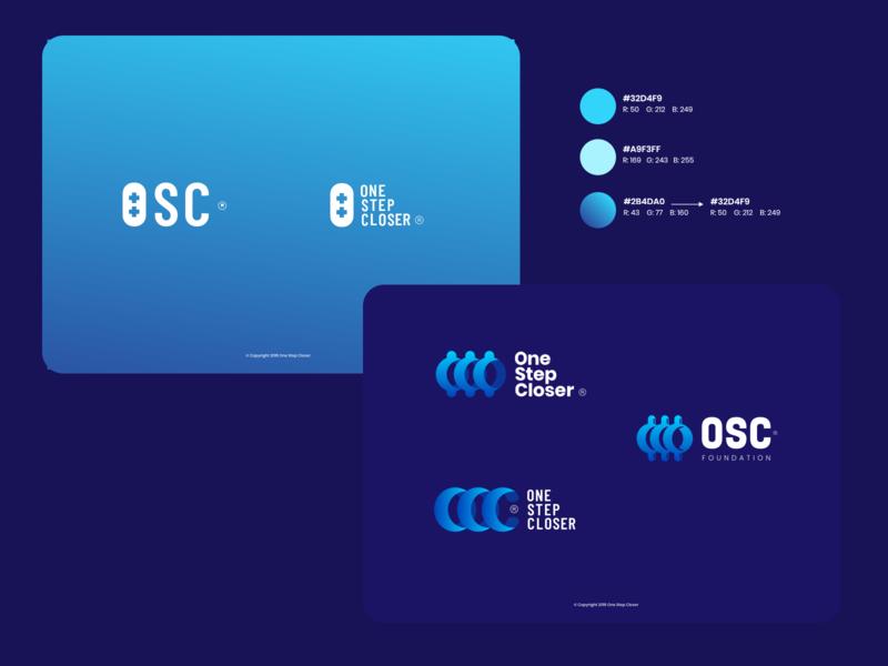 One Step Closer Branding illustration foundation logo branding