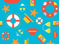 Free Summer Seamless Pattern
