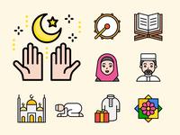 Muslim and ramadan icon