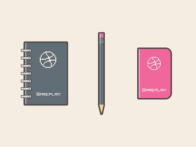 Gameplan notebook book journal dotgrid dribbble