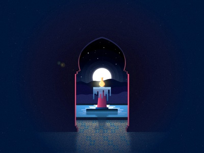 Fountain mosque noise glow illustrator night tyrant foutain