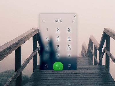 Dial Pad dial pad desktop ux app ui