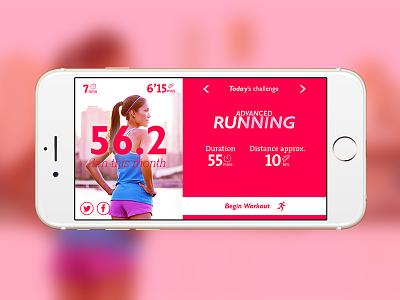 Running App sport running chart product ux app ui