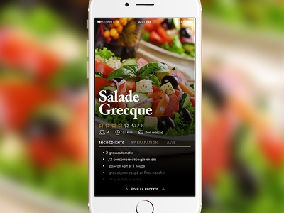 Recipe App recipe challenge daily ui product ux app ui
