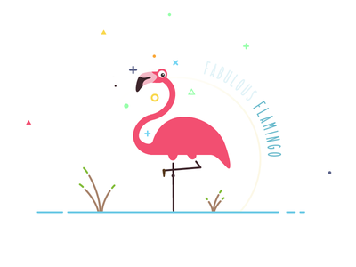 Fabulous Famingo flat flamingo fabulous