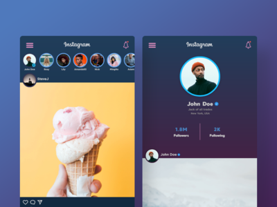 Instagram Revamped UI