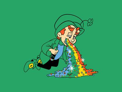 Unlucky Charms leprechaun st. patricks day t-shirt rainbow debut illustration