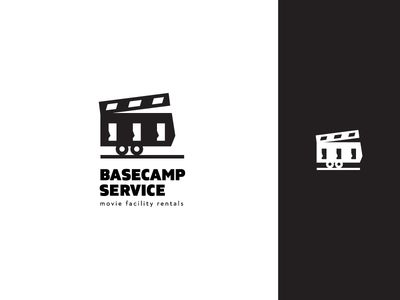 Basecamp Logo Design logodesign movie facility caravan logo