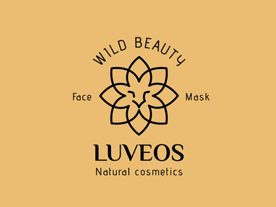 LUVEOS - logo design proposal lion flower logo cosmetics brand