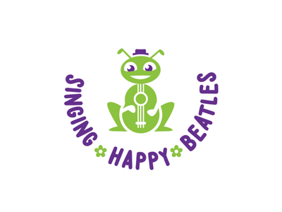 Singing Happy Beatles ver 2 music logo kids kids logo logo design