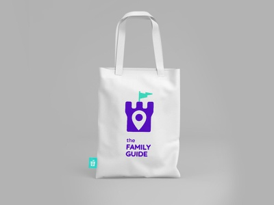 Тhe Family Guide logo design bag design
