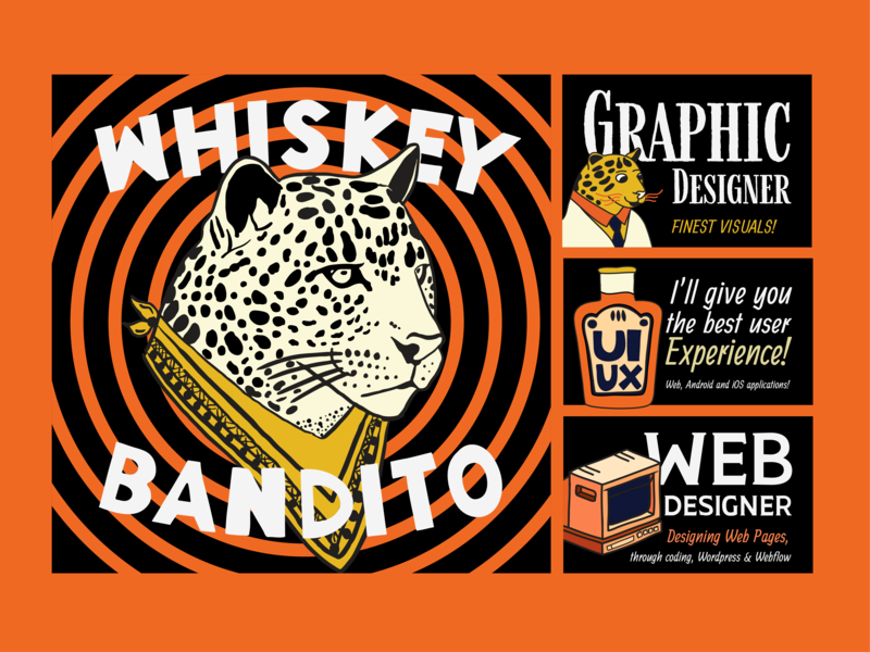 Whiskey Bandito Poster #01 typography vector drawing logo draw cute art creative poster collection poster art poster graphic arts graphic art branding graphic artist colors graphic  design design art illustration design art