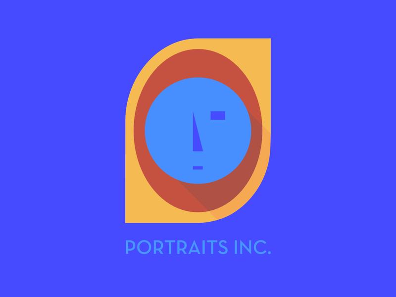 Portraits Inc portrait modern typography icon 100dayproject logo branding illustrator adobe illustrator adobe illustration design
