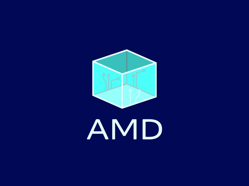 Advanced Micro Devices micro-processor electronics computers semi-conductor processor vector icon typography 100dayproject logo branding illustrator adobe illustrator adobe illustration design