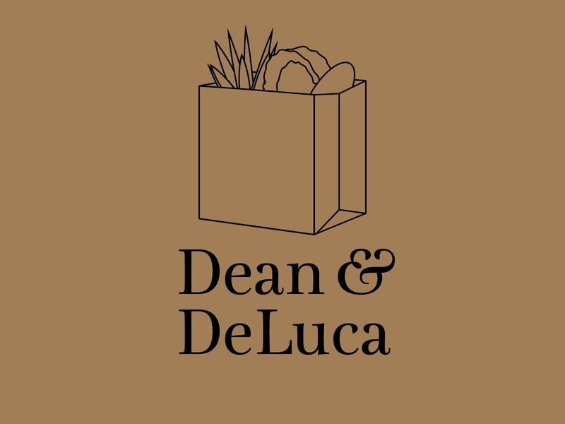Dean & DeLuca food grocery vector icon typography 100dayproject logo branding illustrator adobe illustrator adobe illustration design