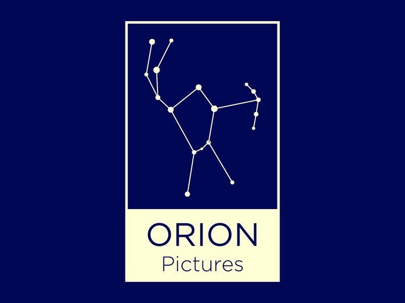 Orion Pictures constellation stars orion film movies vector icon typography 100dayproject logo branding illustrator adobe illustrator adobe illustration design