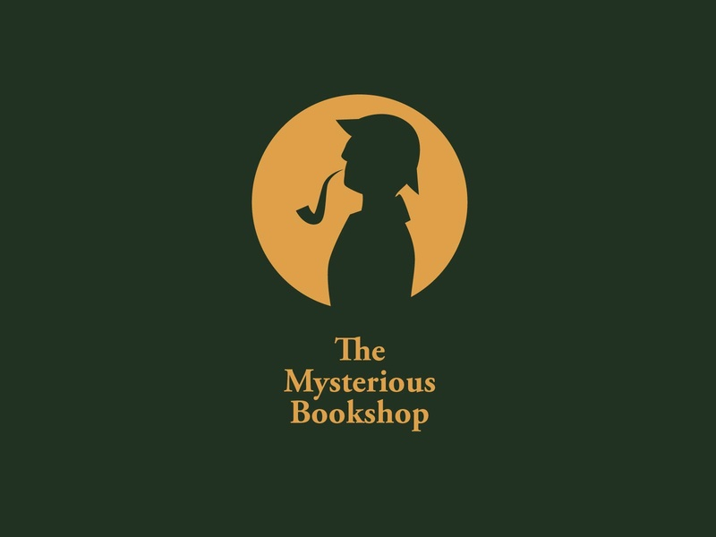 The Mysterious Bookshop books mystery vector art icon typography 100dayproject logo branding illustrator adobe illustrator adobe illustration design