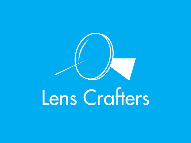 Lens Crafters health glasses eyewear icon typography 100dayproject logo branding illustrator adobe illustrator adobe illustration design