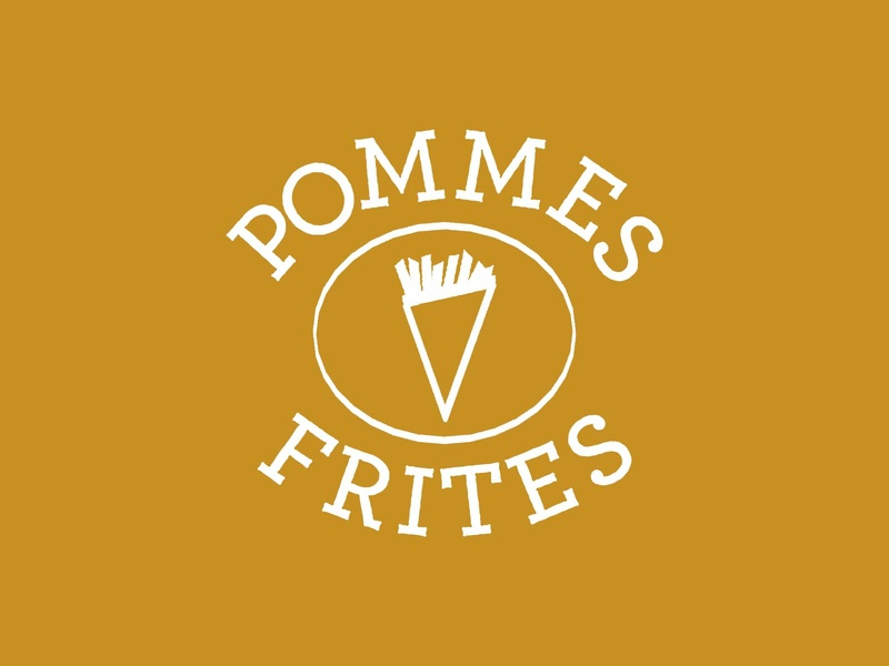 Pommes Frites nyc ny belgian frites fries potato food icon typography 100dayproject logo branding illustrator adobe illustrator adobe illustration design