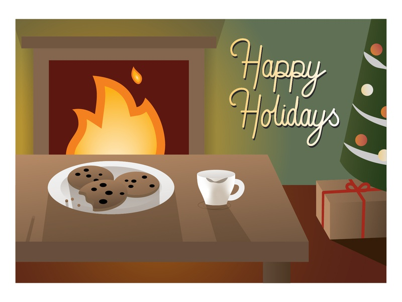Holiday Card happy holidays happy cartoon weekly warm-up weeklywarmup vector illustrator adobe illustrator adobe illustration design