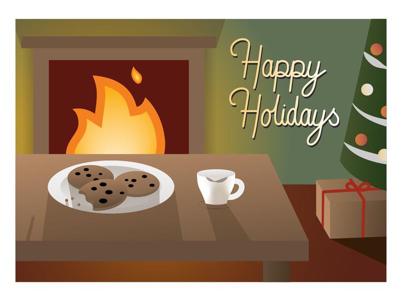 Holiday Card happy holidays happy cartoon weekly warm-up weeklywarmup vector illustrator adobe illustrator adobe illustration design