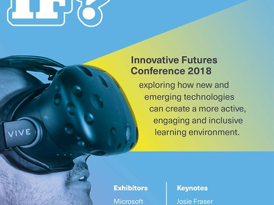 IF? Flyer Crop side project self generated vr event conference promo flyer print branding