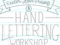 Exeter Lettering Workshop Poster