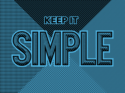 Keep it Simple store front commercial type lettering typography handlettering