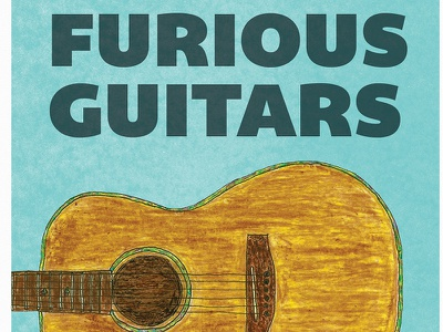 Two Furious Guitars graphicdesign poster print illustration