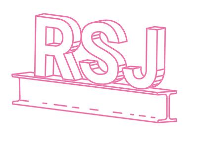 RSJ Logo Work in Progress work in progress identity design identity branding logo