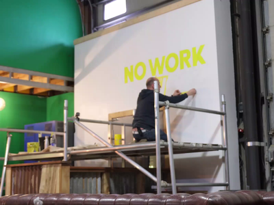 """""""There's No Work Like Cowork"""" Mural Timelapse timelapse mural handlettering lettering typography"""