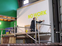 """There's No Work Like Cowork"" Mural Timelapse"