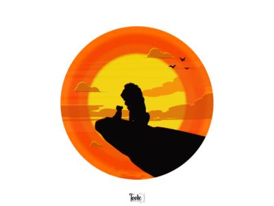 Lion king - Simba and Mufasa visual designer toolic designs pentool simba and mufasa illustration illustrator lion king