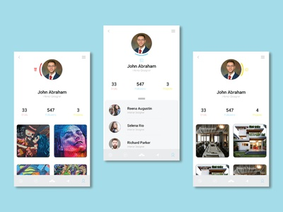 DAILY UI profile page profilepage user interface day6 dailyui006 100daychallenge ui dailyui