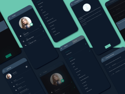 Daily UI - Settings settings page profile page day007 user interface daily ui