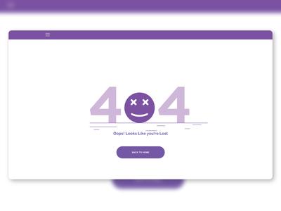Daily UI - 404 page 404 error page dashboard user interface dailyui ui