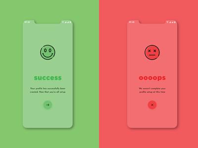 Daily UI - Day 011 popups error success flash messages 100daychallenge ui dailyui user interface