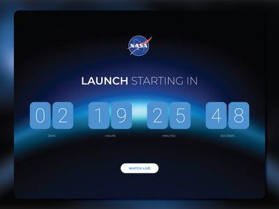 DAILY UI concept gradients nasa countdown timer toolic designs 100daychallenge dailyui ui adobe illustrator user interface