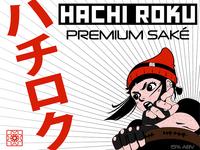 Hachi Roku saké label