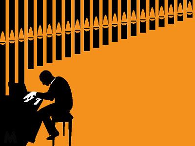 Jazz Church graphic pipe organ graphic design piano organ poster jazz illustration design graphic