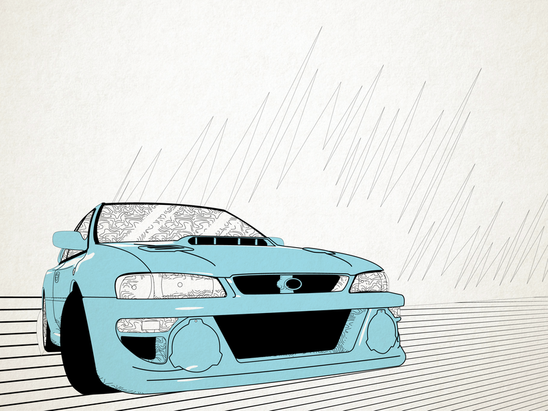 Impreza WRX vector graphic design illustration graphic design