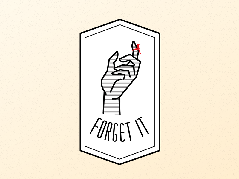 Forget It logo icon typography vector graphic illustration design graphic design