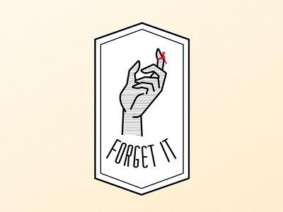 Forget It logo icon typography vector graphic illustration design graphic design