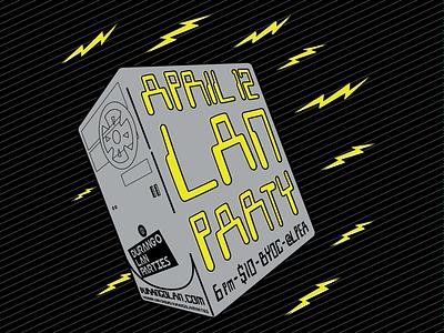 Durango LAN Parties graphic fun poster design poster lan parties lan computer identity branding typography vector graphic illustration design graphic design
